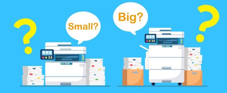 コピー機・複合機のサイズは?大きさ重さはどれくらい?