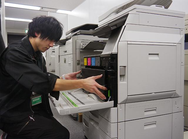 コピー機 自社メンテナンス